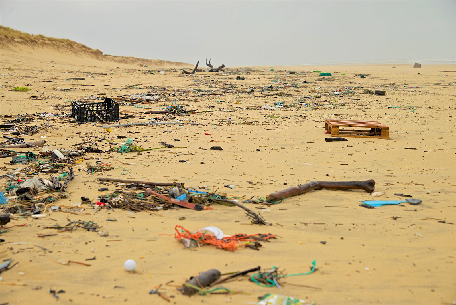 Odpad na pláži