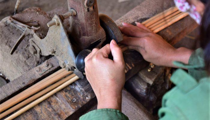 spracovanie bambusových slamiek