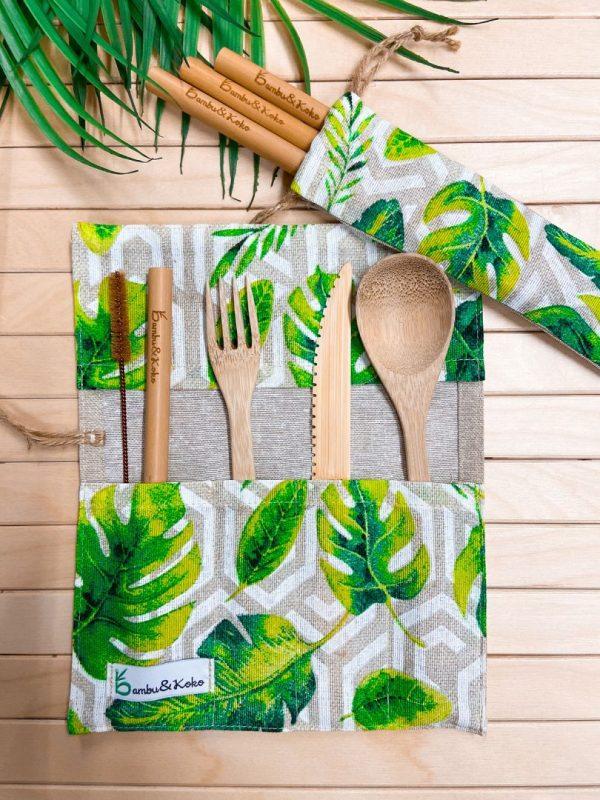 Tropický set s bambusu