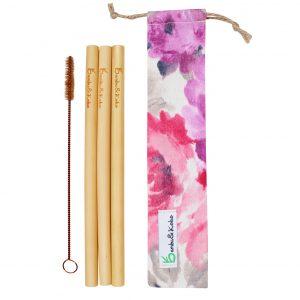 bambusové slamky - tajomstvo kvetov