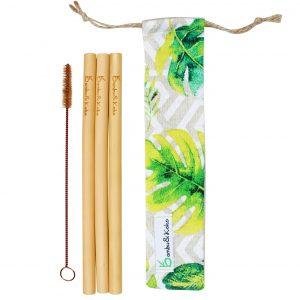 bambusové slamky - tropické osvieženie