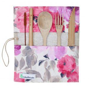 bambusový príbor - tajomstvo kvetov
