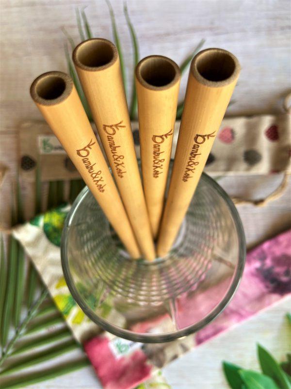 Bambusové slamky a vrecúška