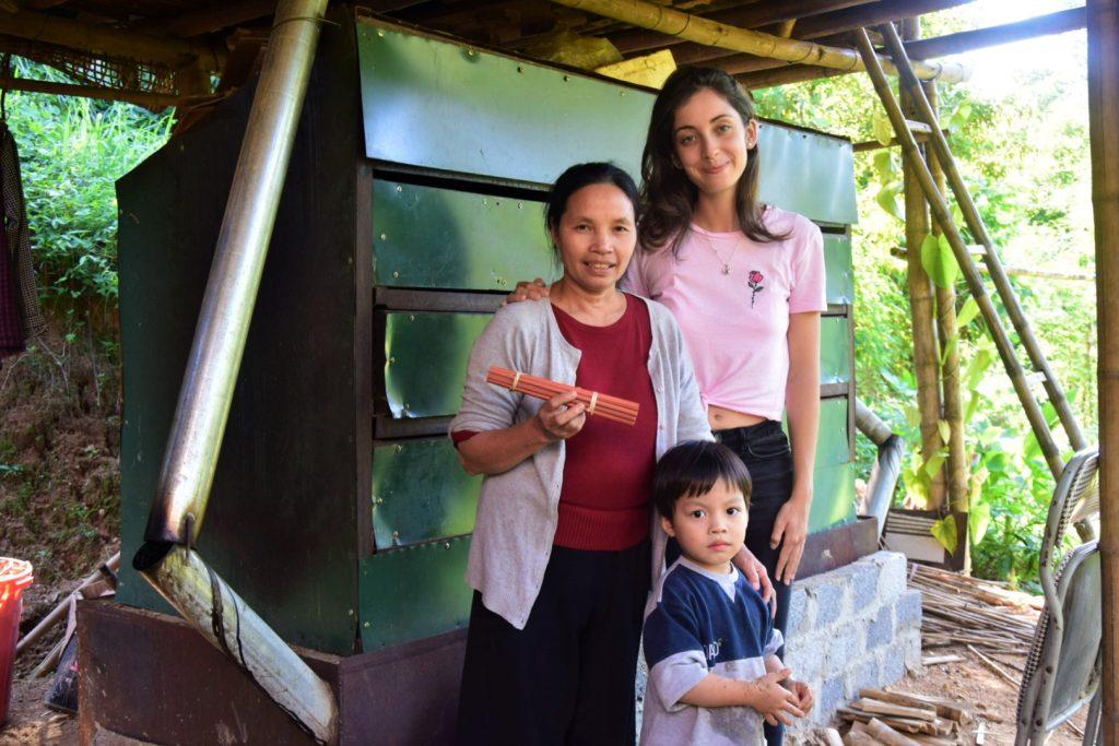 Bambusová farma a vietnamská rodinka