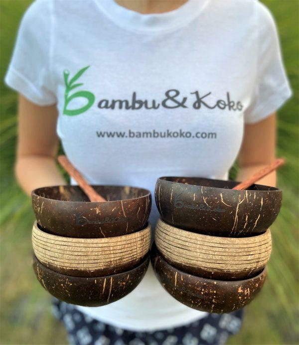 kokosové misky v sete